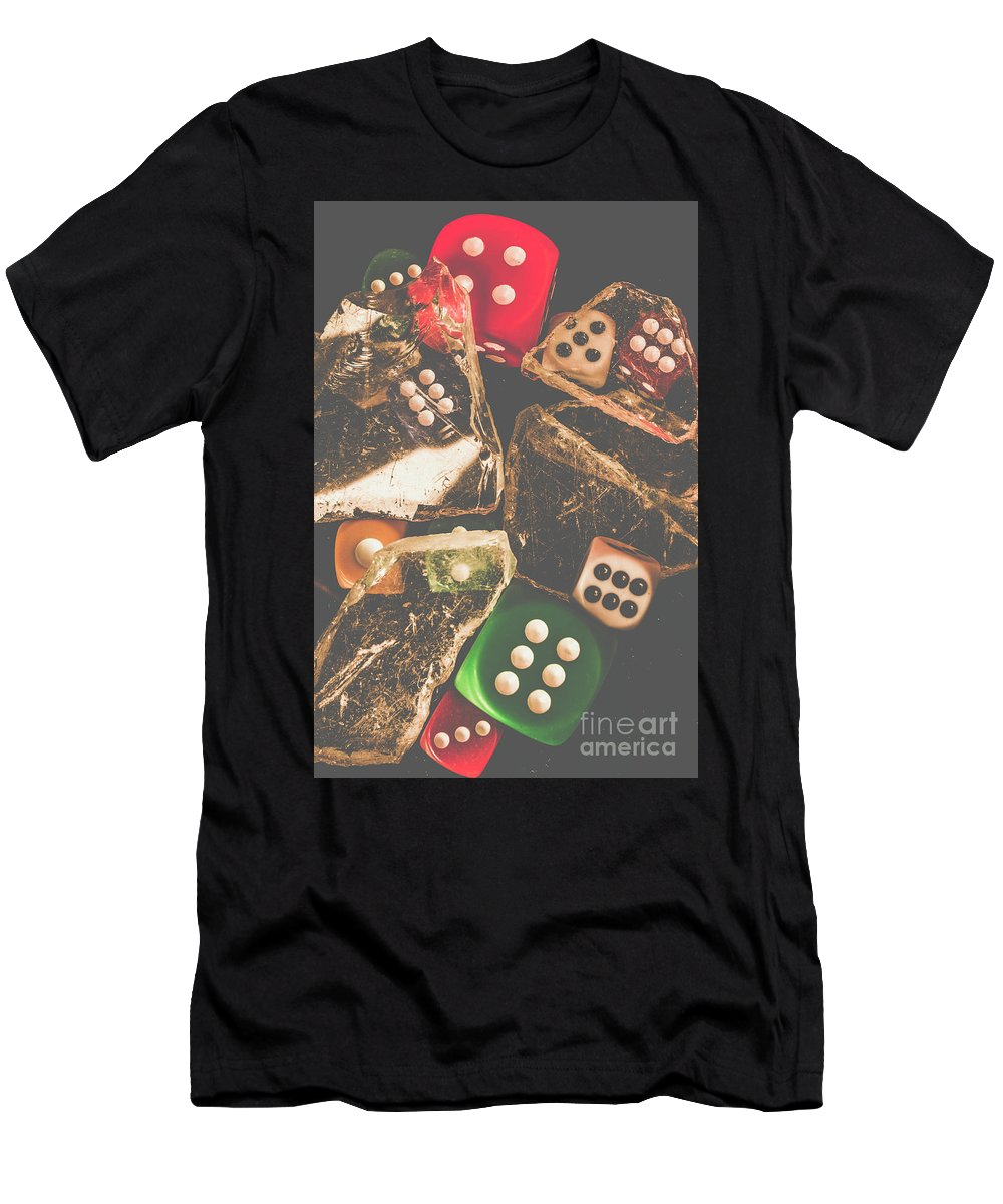 Vintage Men's T-Shirt (Athletic Fit) featuring the photograph Vintage Gambling Scene by Jorgo Photography - Wall Art Gallery