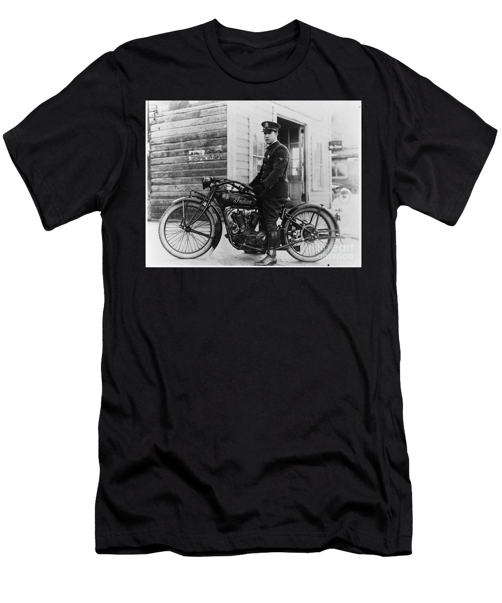 60172f56 Vintage Indian Motorcycle Men's T-Shirt (Athletic Fit) featuring the  photograph Vintage Indian