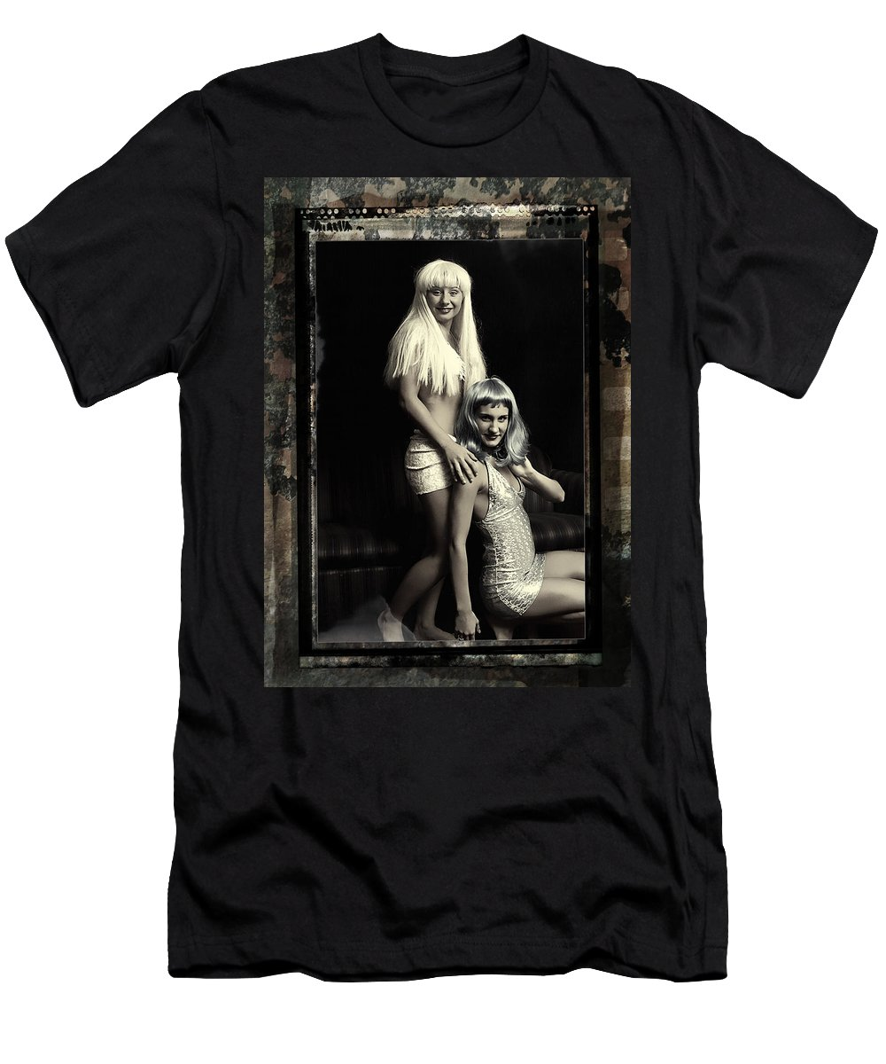 Clay Men's T-Shirt (Athletic Fit) featuring the photograph Vintage Party Girls by Clayton Bruster