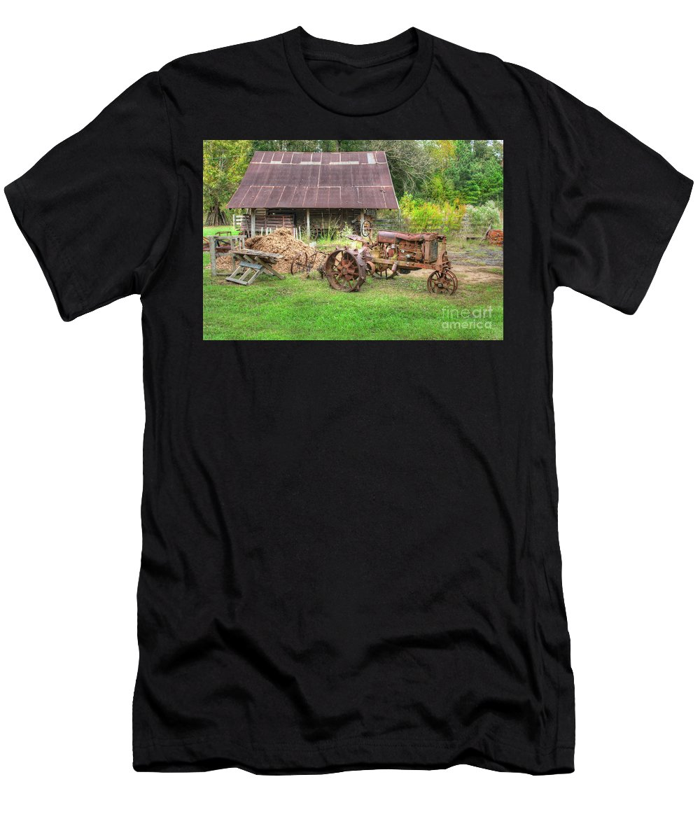 Travel Men's T-Shirt (Athletic Fit) featuring the photograph Vintage Tractor by Larry Braun