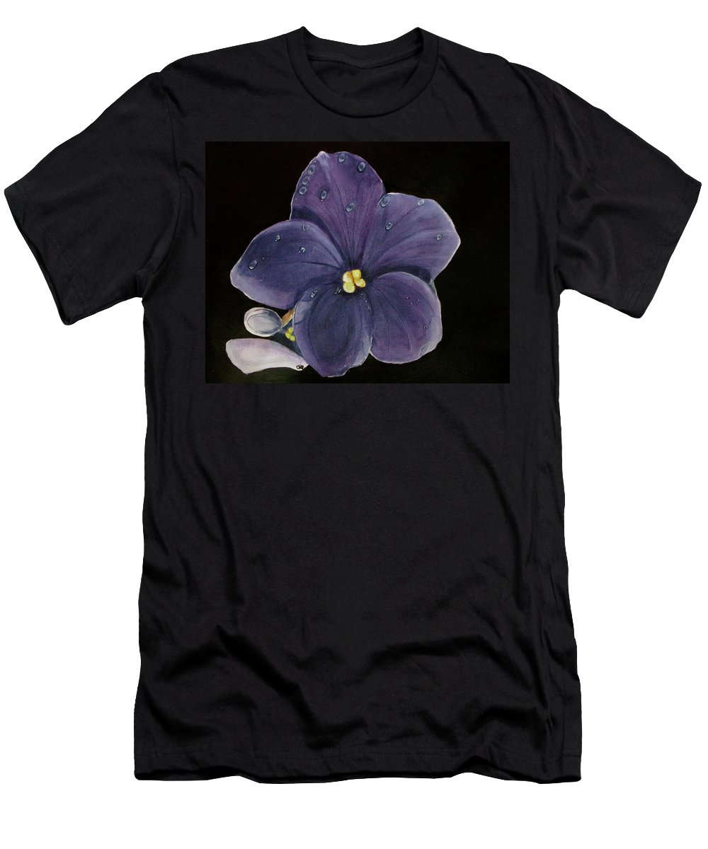 Violet Painting Men's T-Shirt (Athletic Fit) featuring the painting Violet by Carol Blackhurst