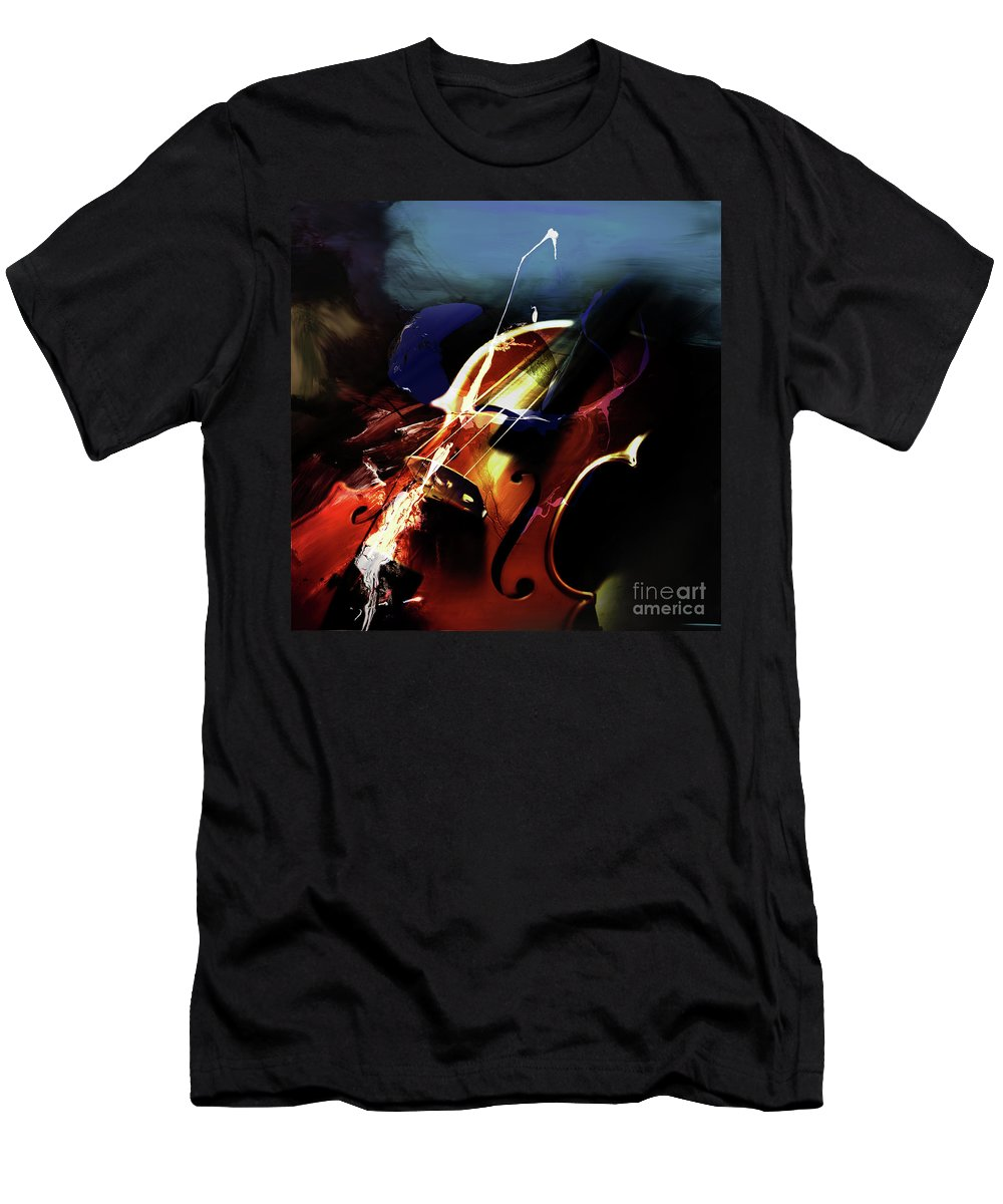 Guitar Men's T-Shirt (Athletic Fit) featuring the painting Violin Painting Art 321 by Gull G