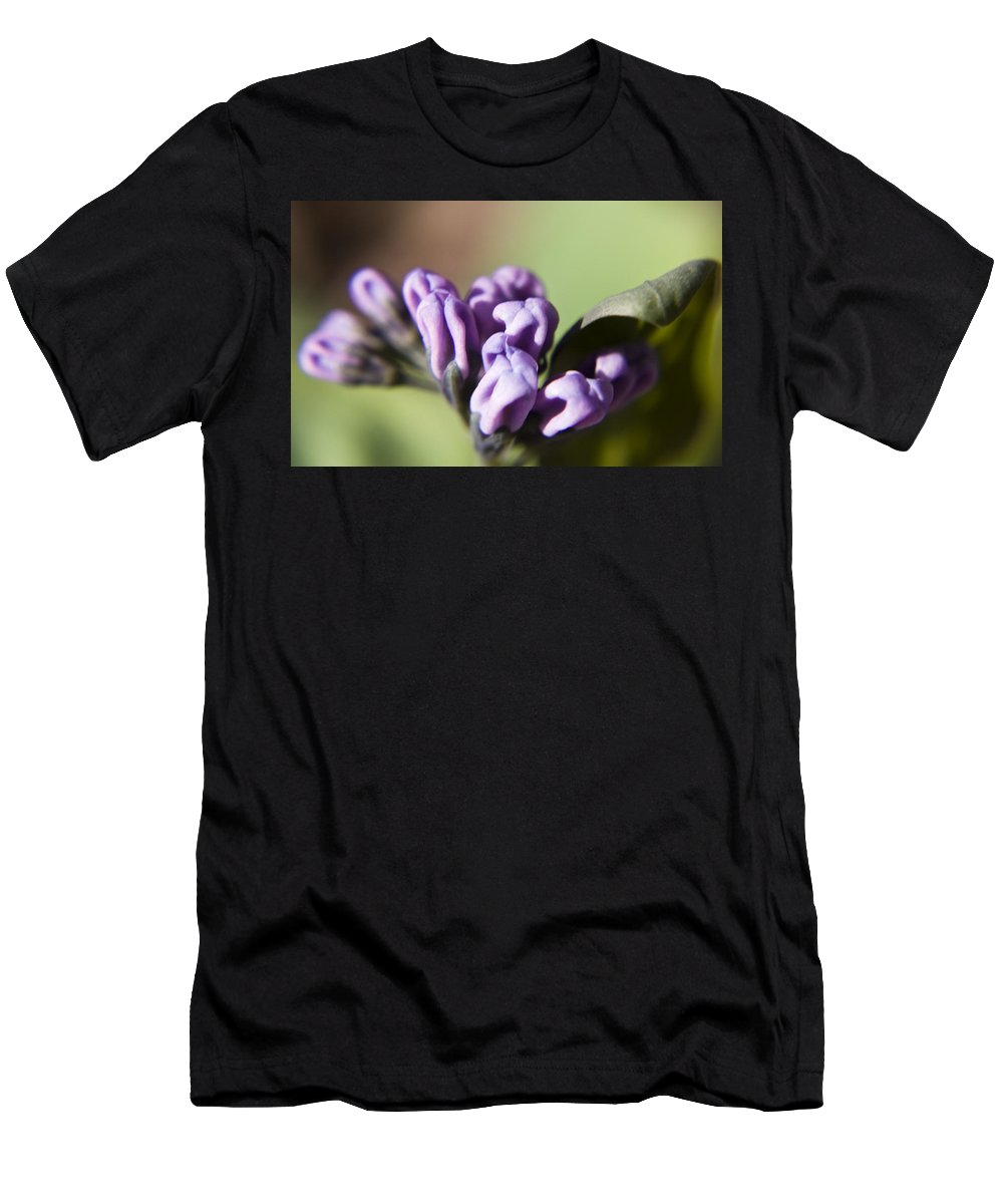 Virginia Men's T-Shirt (Athletic Fit) featuring the photograph Virginia Bluebell Buds by Teresa Mucha
