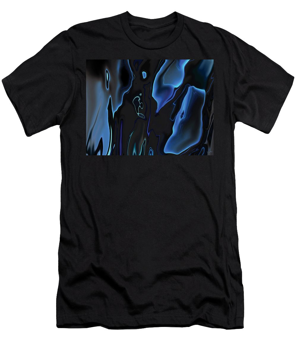 Abstract Men's T-Shirt (Athletic Fit) featuring the digital art Virtual Life 1 by Rabi Khan