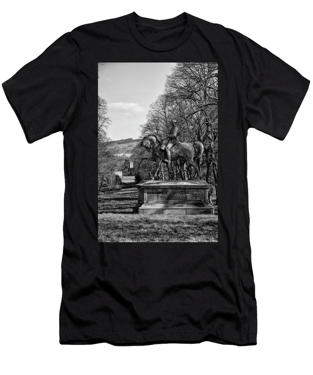 Avenue Men's T-Shirt (Athletic Fit) featuring the photograph Viscount Gough On Horseback. by Paul Cullen
