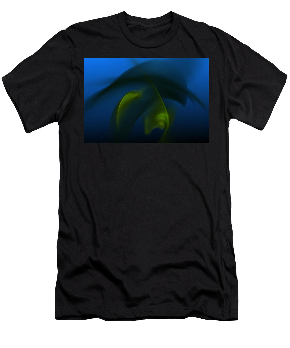 Digital Painting Men's T-Shirt (Athletic Fit) featuring the digital art Visitors From The Deep by David Lane