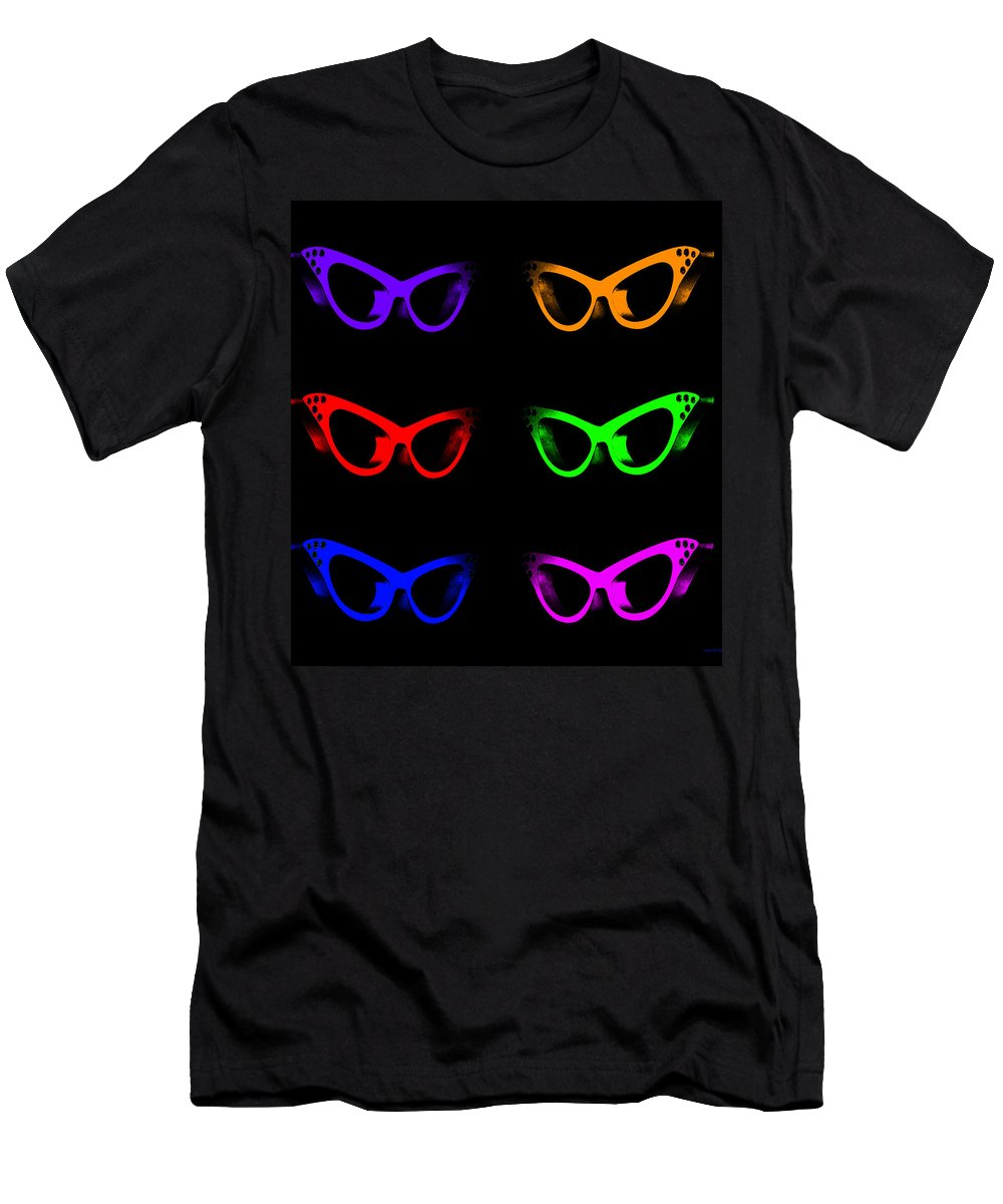 Glasses Men's T-Shirt (Athletic Fit) featuring the photograph Visual Distinction Full Spectrum by Lesa Fine