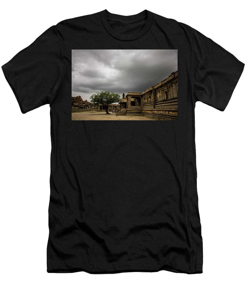 Hampi Men's T-Shirt (Athletic Fit) featuring the photograph Vittala Temple by Vishesh Unni Raghunathan