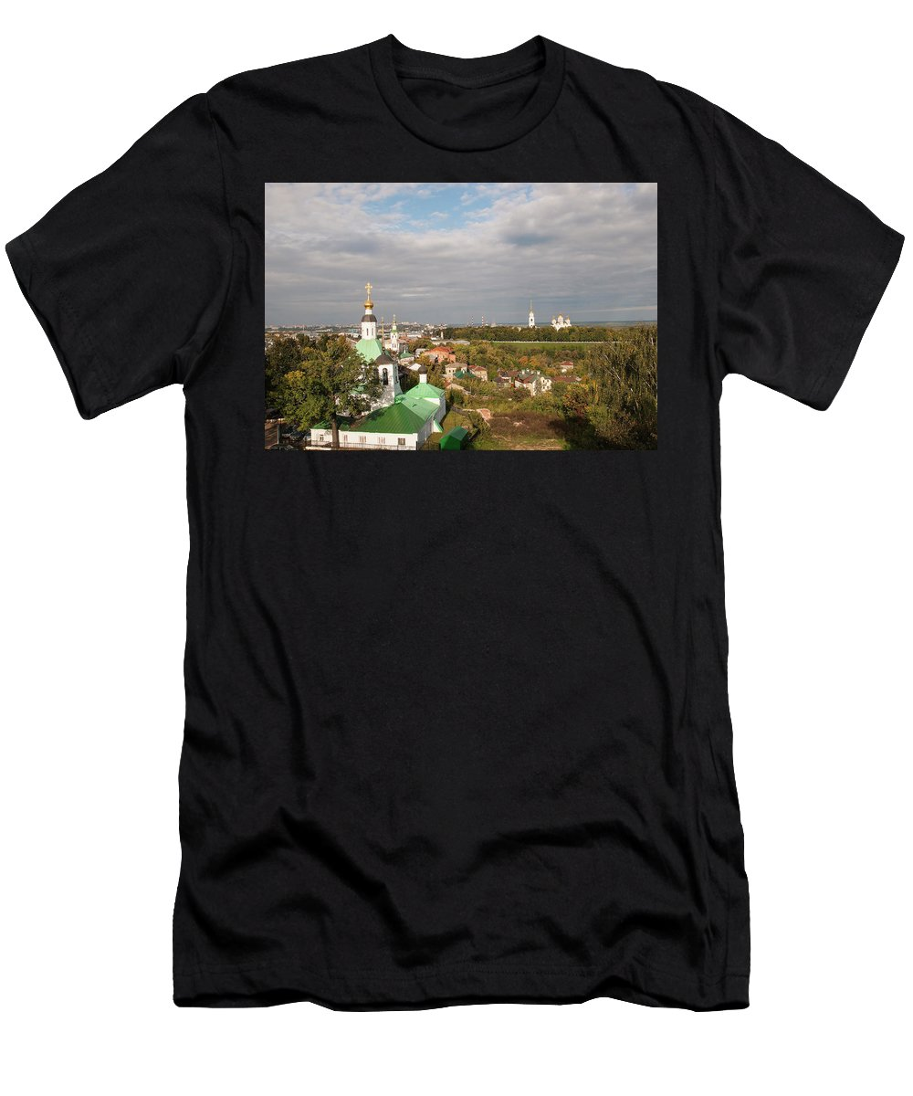 Church Men's T-Shirt (Athletic Fit) featuring the photograph Vladimir City by Sergei Dolgov