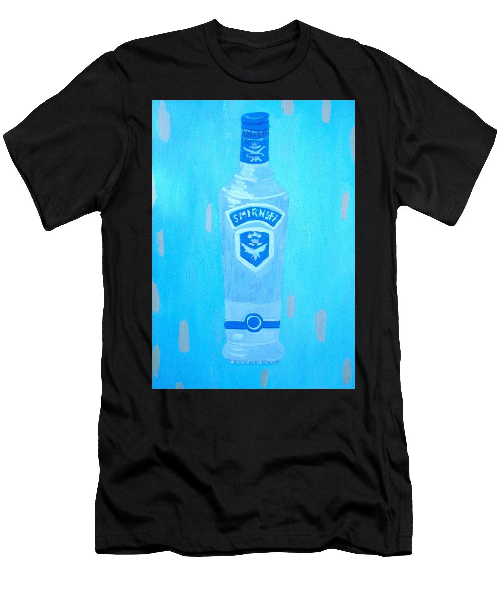 Pop Art Men's T-Shirt (Athletic Fit) featuring the painting Vodka by Patrice Tullai