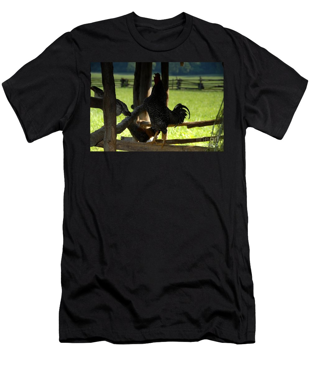 Farm Men's T-Shirt (Athletic Fit) featuring the photograph Voice Of The Farm by David Lee Thompson