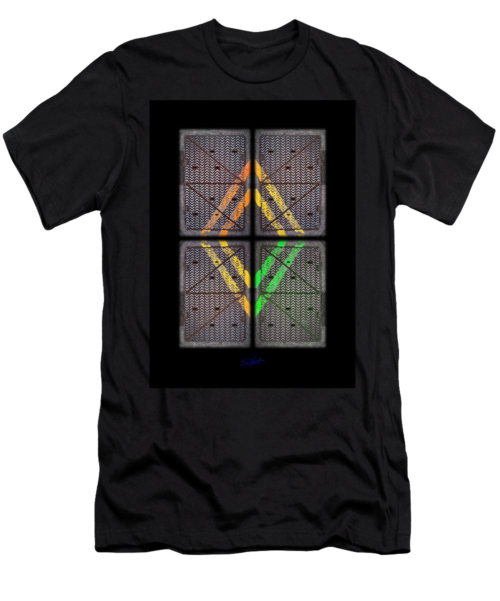 Urban Men's T-Shirt (Athletic Fit) featuring the photograph Voices For Green by Charles Stuart