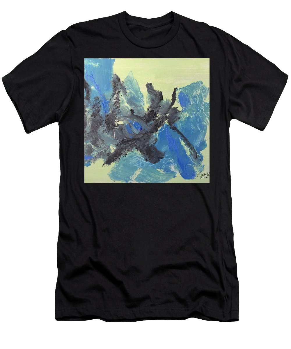 Abstract Men's T-Shirt (Athletic Fit) featuring the painting Vortex I by Kari Hunt