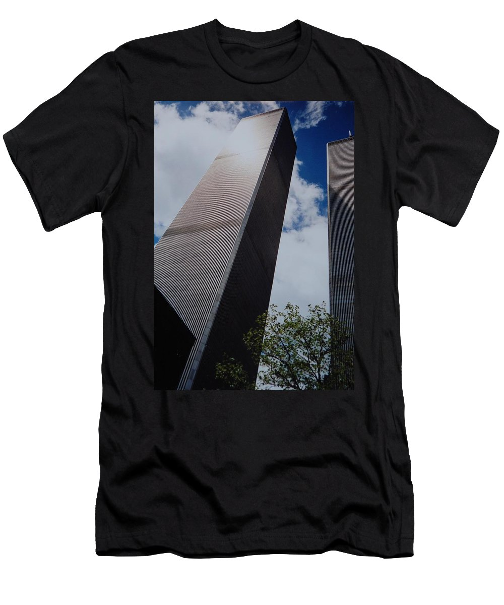 Wtc Men's T-Shirt (Athletic Fit) featuring the photograph W T C 1 And 2 by Rob Hans