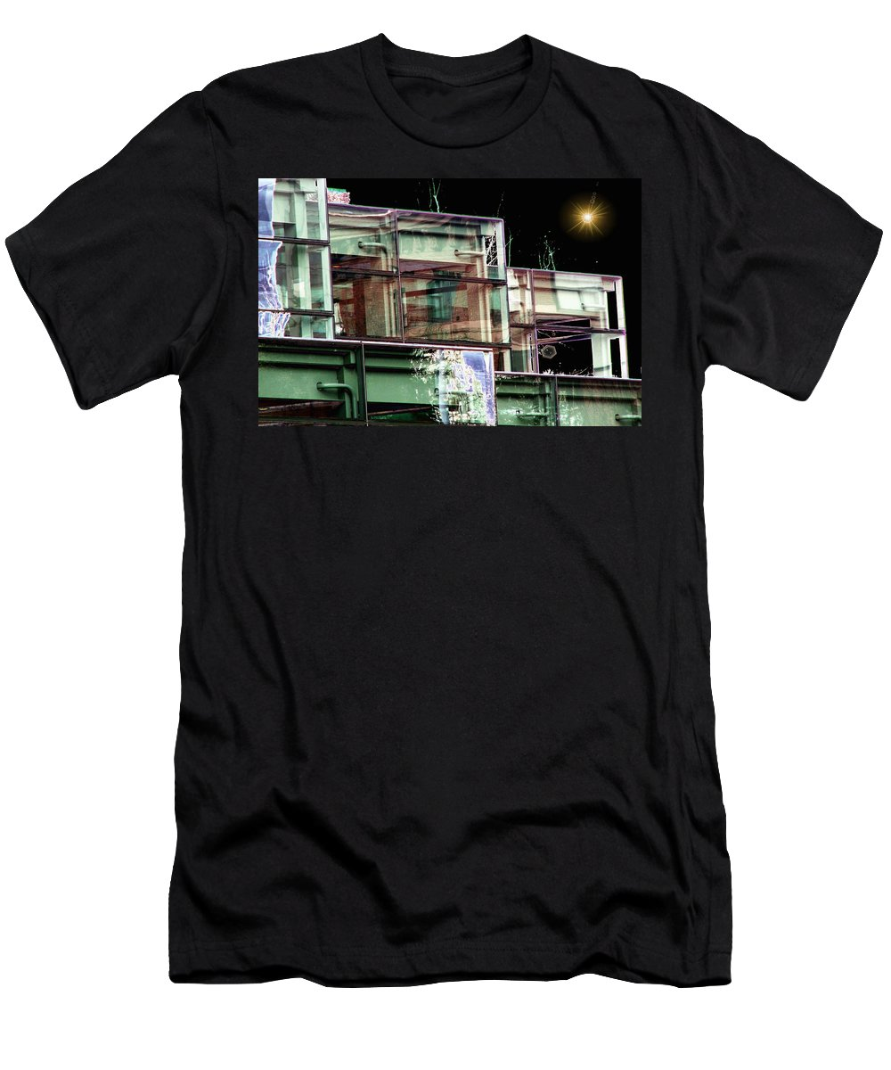 Seattle Men's T-Shirt (Athletic Fit) featuring the digital art Wa State Convention And Trade Center by Tim Allen