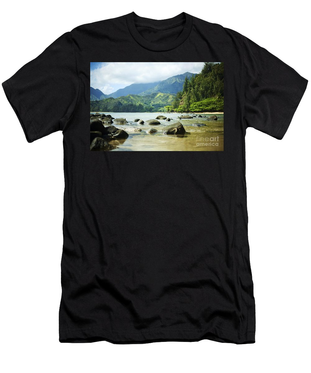 Beach Men's T-Shirt (Athletic Fit) featuring the photograph Waikoko On Kauai by Kicka Witte - Printscapes