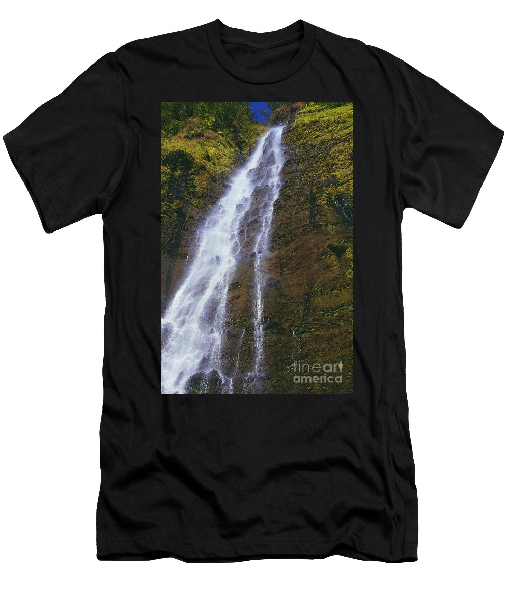Beautiful Men's T-Shirt (Athletic Fit) featuring the photograph Waimoku Falls by Kyle Rothenborg - Printscapes