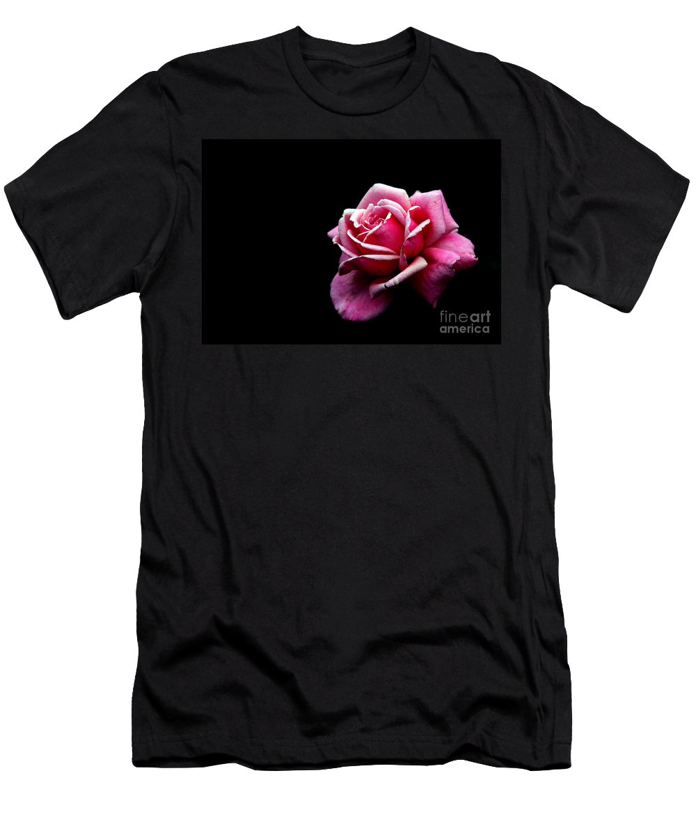 Rose Men's T-Shirt (Athletic Fit) featuring the photograph Waiting by Amanda Barcon