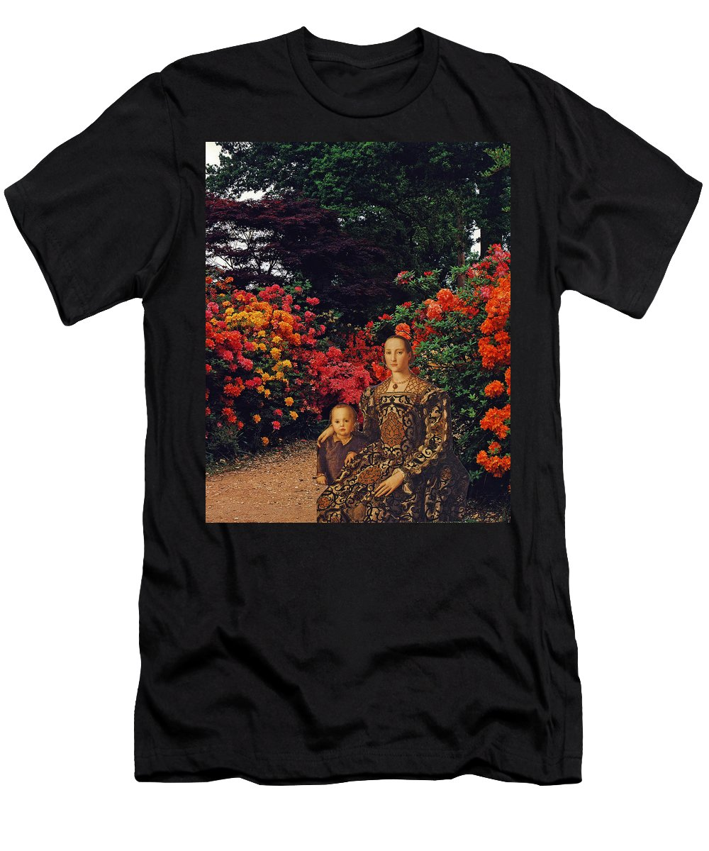 Collage Men's T-Shirt (Athletic Fit) featuring the digital art Waiting By The Path by John Vincent Palozzi