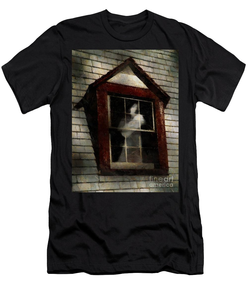 Window Men's T-Shirt (Athletic Fit) featuring the painting Waiting For Henry by RC DeWinter