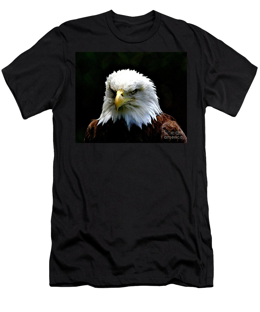 Eagle Men's T-Shirt (Athletic Fit) featuring the photograph Wake Up America by Robert Pearson