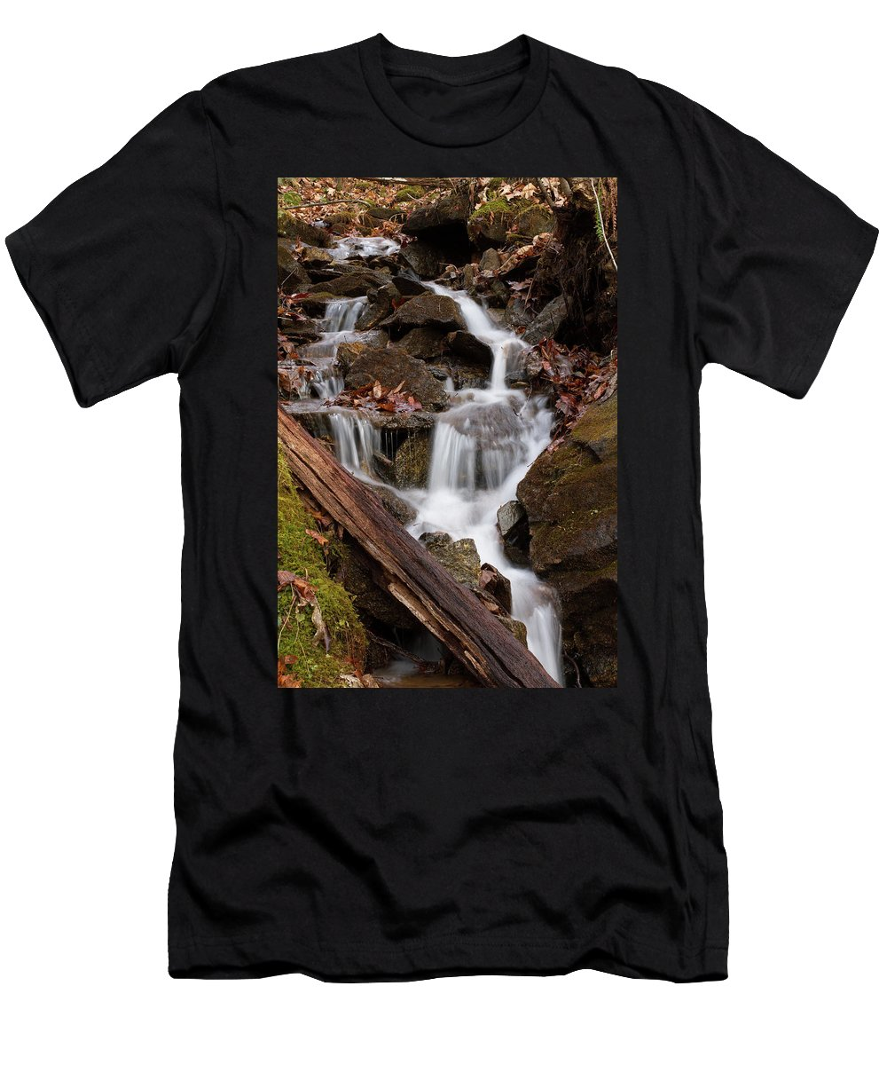 Cascade Men's T-Shirt (Athletic Fit) featuring the photograph Walden Creek Cascade by Paul Rebmann