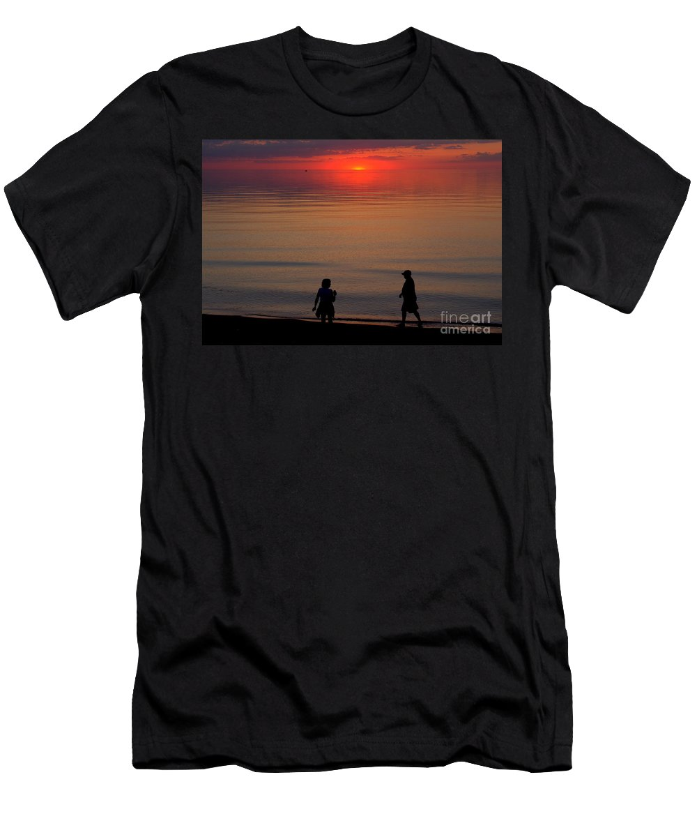 Grand Bend Men's T-Shirt (Athletic Fit) featuring the photograph Walk Back To The Bend 2 by John Scatcherd