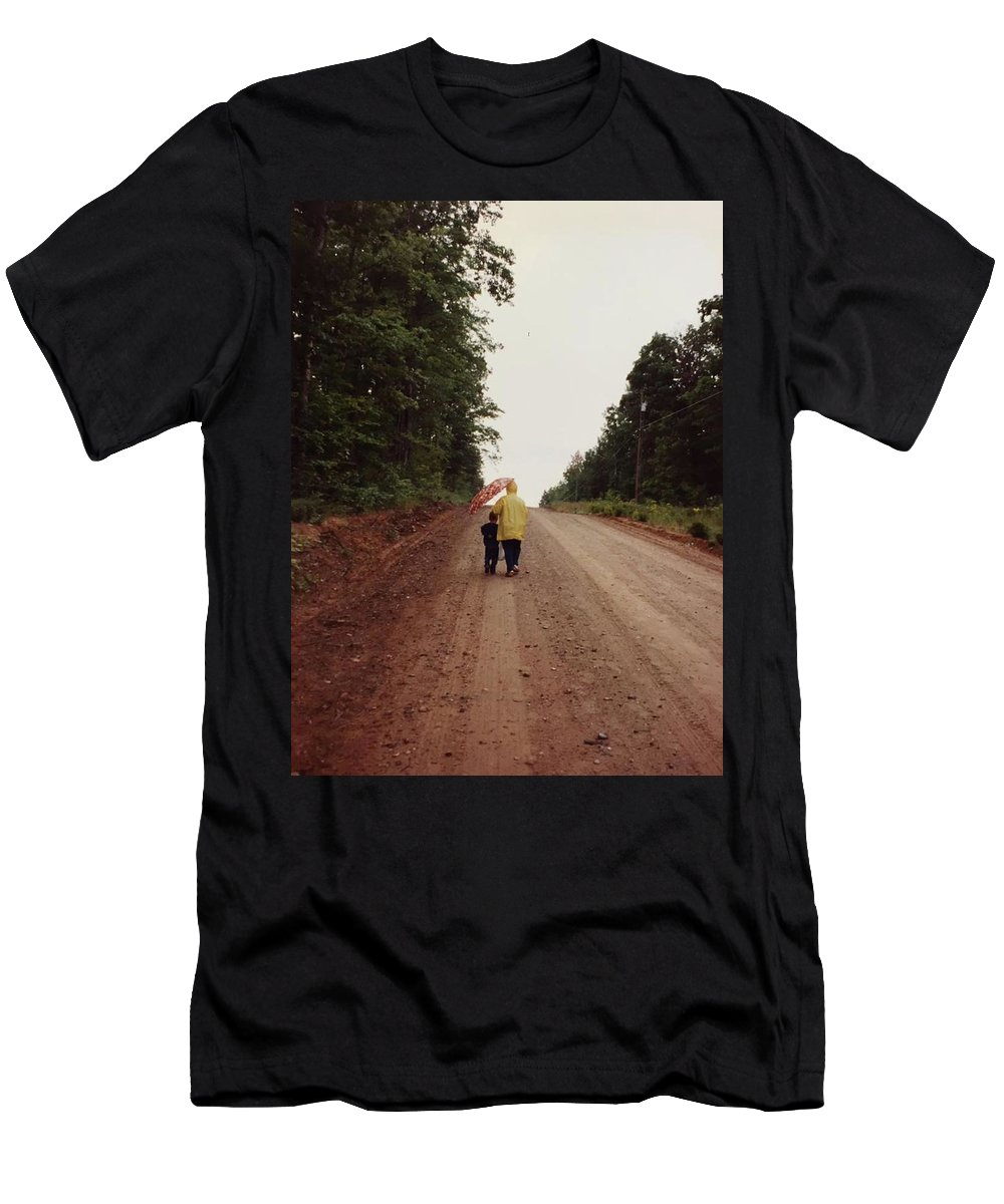 Grandma Men's T-Shirt (Athletic Fit) featuring the photograph Walking Up North With Grandma by Josh MacDonald