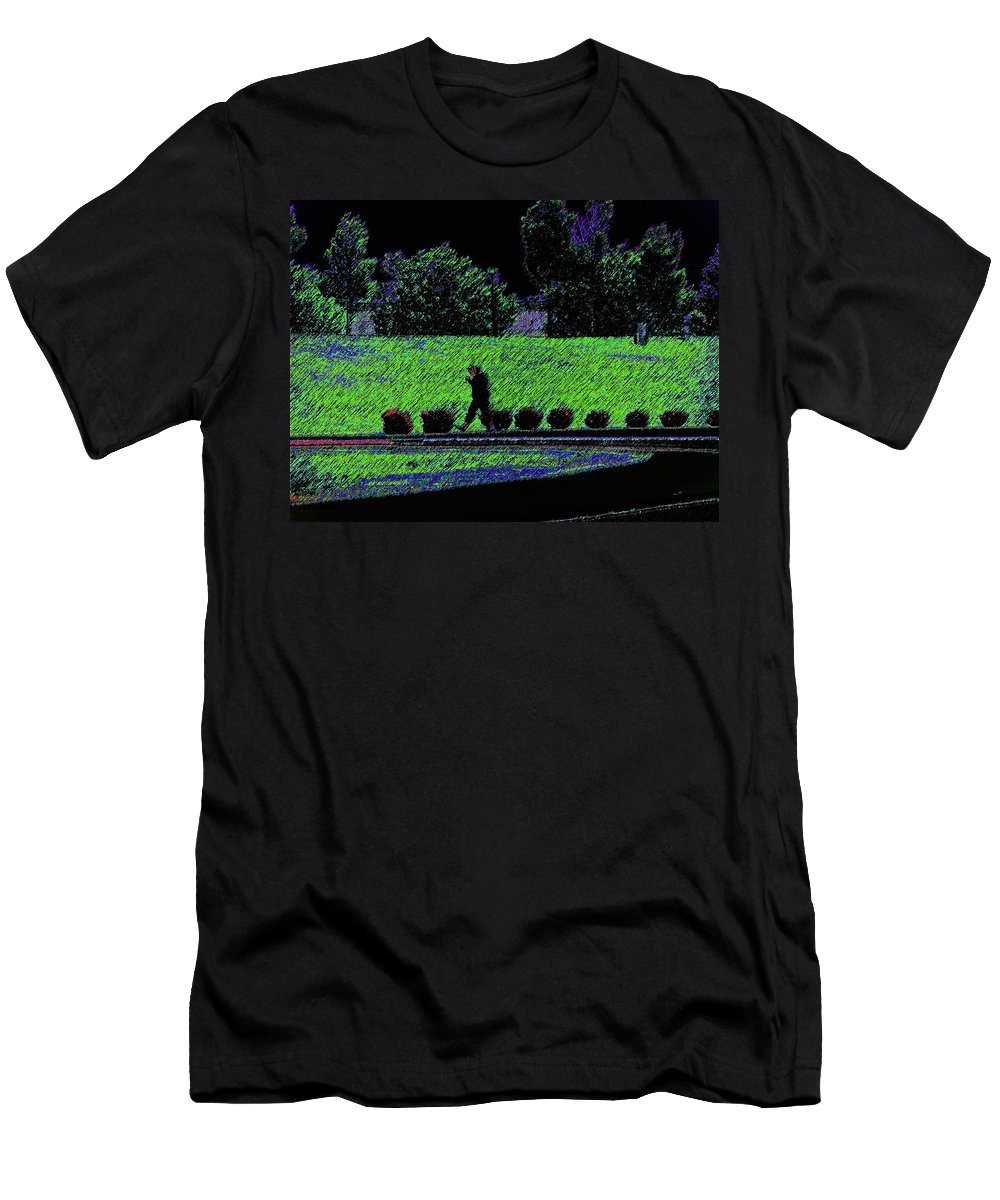 Abstract Men's T-Shirt (Athletic Fit) featuring the photograph Walking With Purpose by Lenore Senior