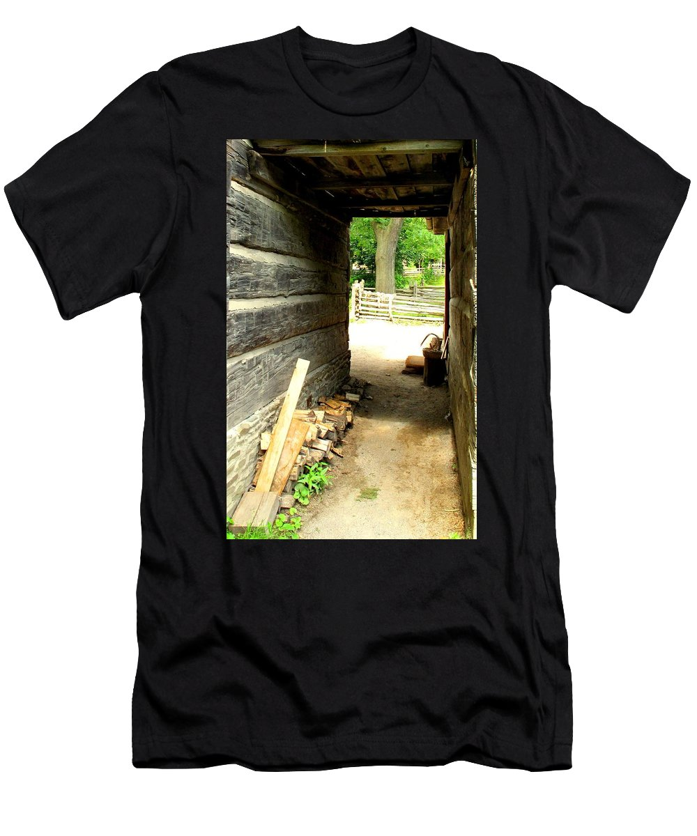 Pioneer Men's T-Shirt (Athletic Fit) featuring the photograph Walkway by Ian MacDonald