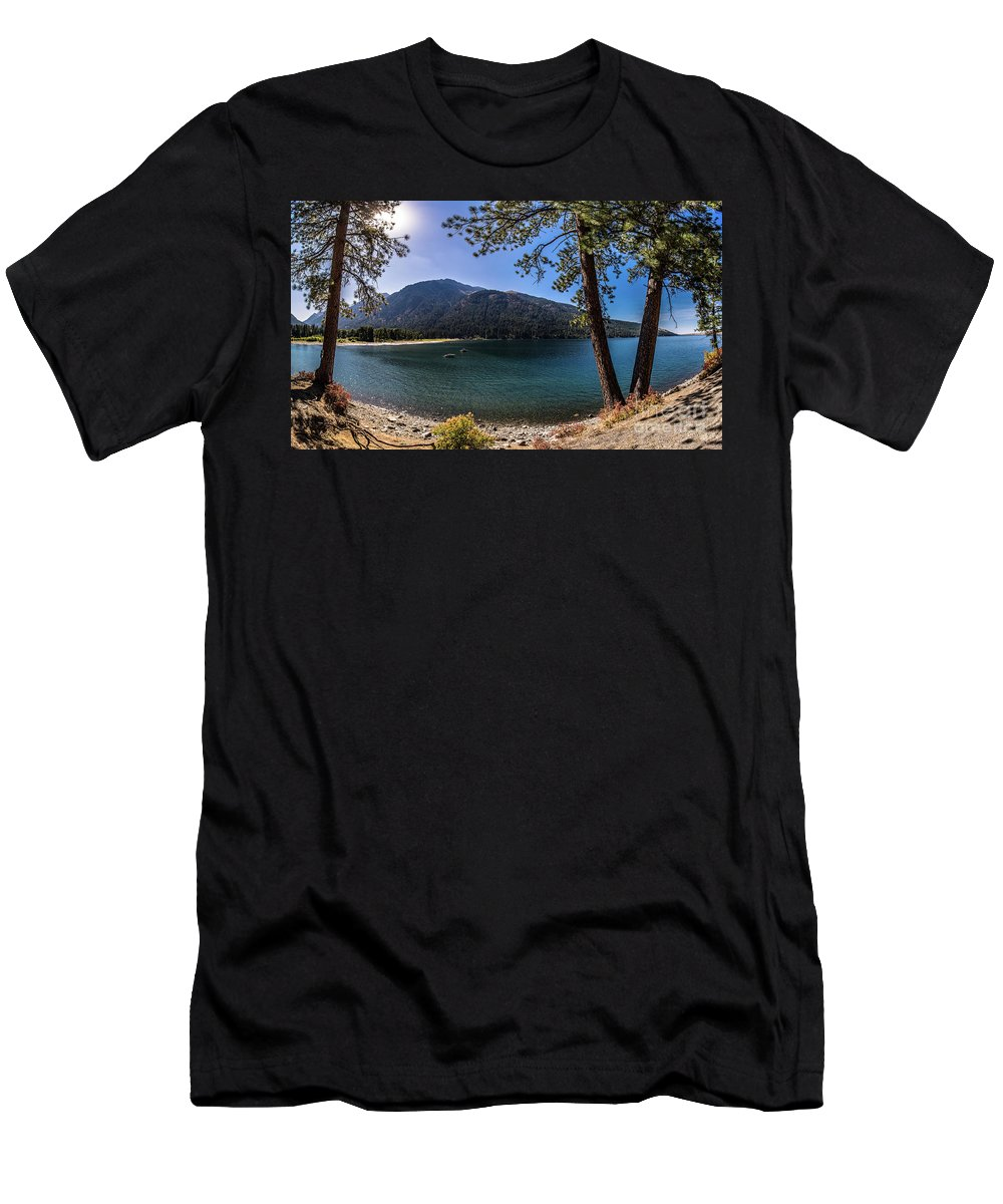 Men's T-Shirt (Athletic Fit) featuring the photograph Wallowa Lake Panorama by Marcia Darby