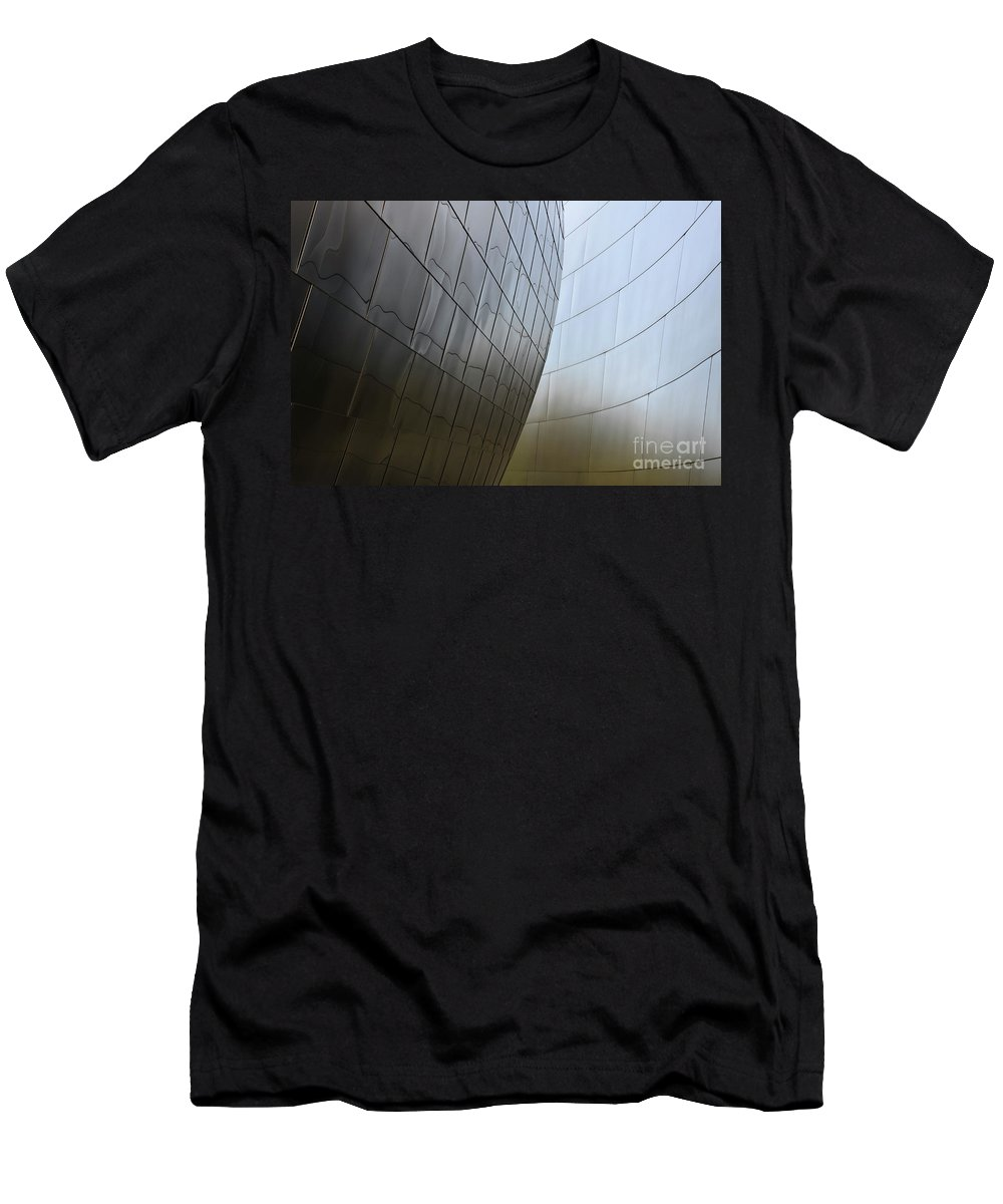 Disney Men's T-Shirt (Athletic Fit) featuring the photograph Walt Disney Concert Hall 4 by Bob Christopher