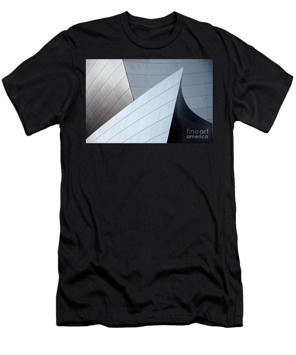 Disney Men's T-Shirt (Athletic Fit) featuring the photograph Walt Disney Concert Hall 9 by Bob Christopher