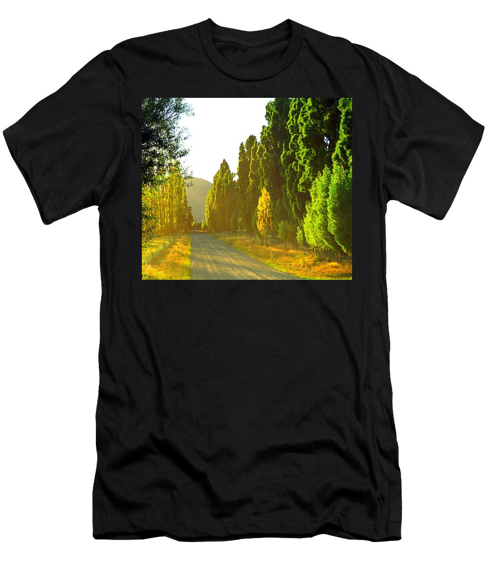 Wanaka Men's T-Shirt (Athletic Fit) featuring the photograph Wanaka Morning Light by Kevin Smith