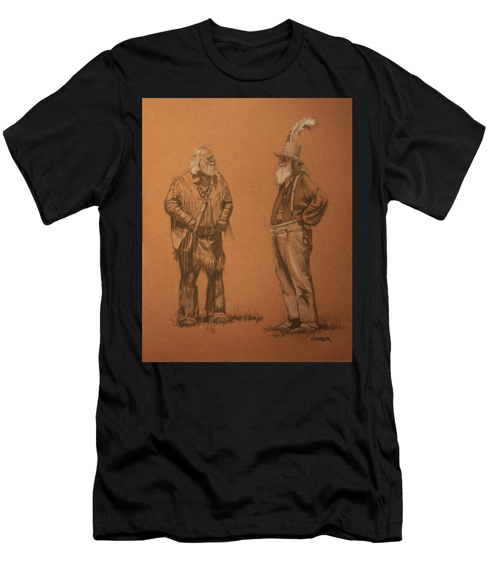 Mountain Men Men's T-Shirt (Athletic Fit) featuring the drawing Wanna Buy A Hat? by Todd Cooper