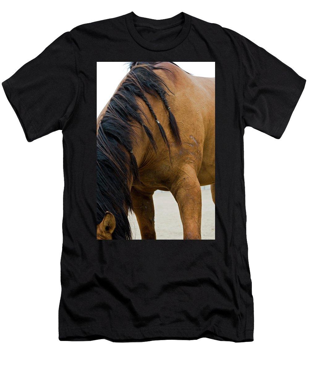 Pony Men's T-Shirt (Athletic Fit) featuring the photograph War Horse by Lorraine Devon Wilke