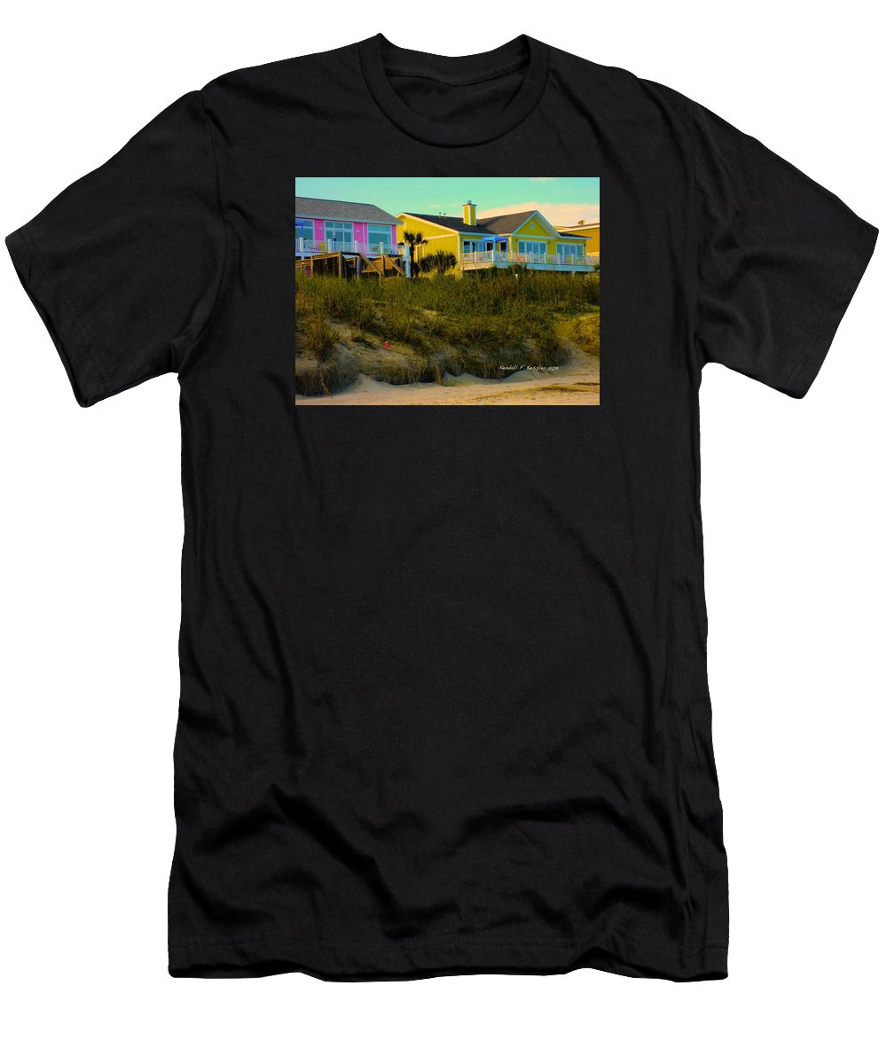 Kendall Kessler Men's T-Shirt (Athletic Fit) featuring the photograph Warm Evening At Isle Of Palms by Kendall Kessler