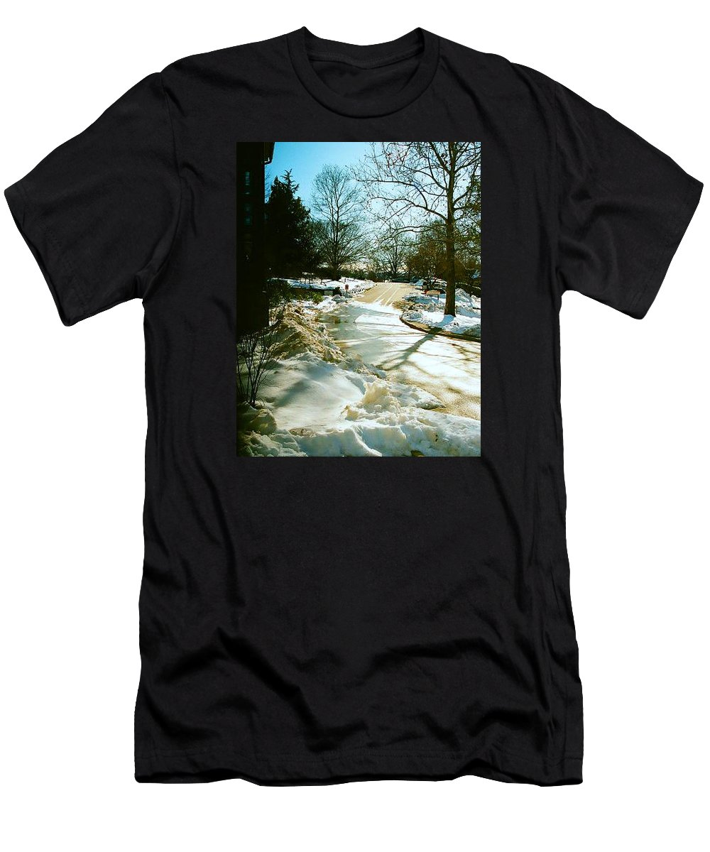 Snow Men's T-Shirt (Athletic Fit) featuring the photograph Warmth After The Chill by Elizabeth Andrews
