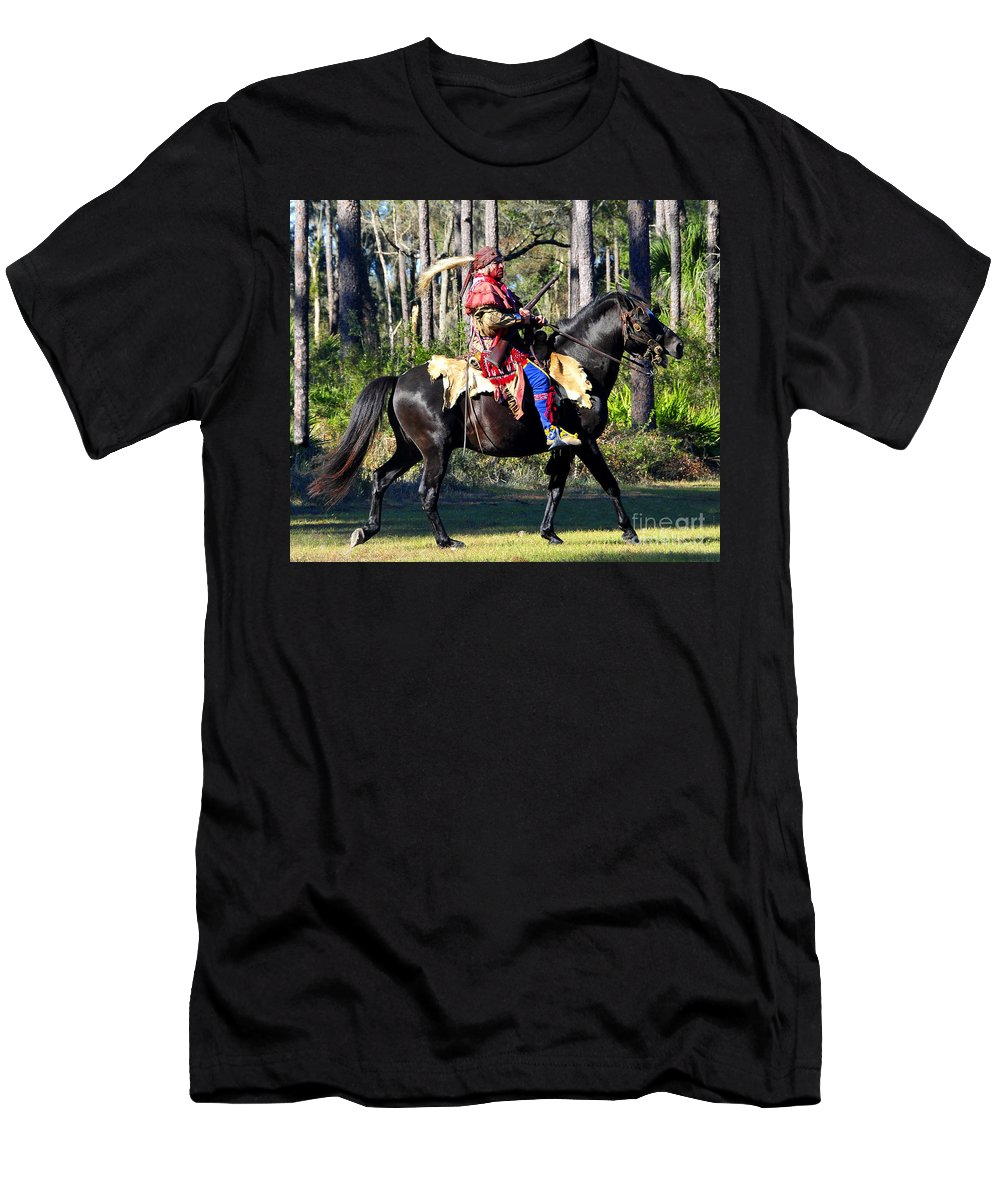 Seminole Indian Men's T-Shirt (Athletic Fit) featuring the photograph Warpath by David Lee Thompson
