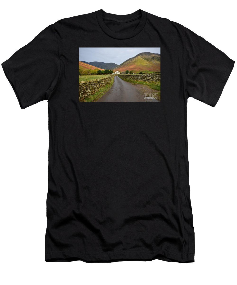 Wasdale Head Men's T-Shirt (Athletic Fit) featuring the photograph Wasdale Head by Smart Aviation