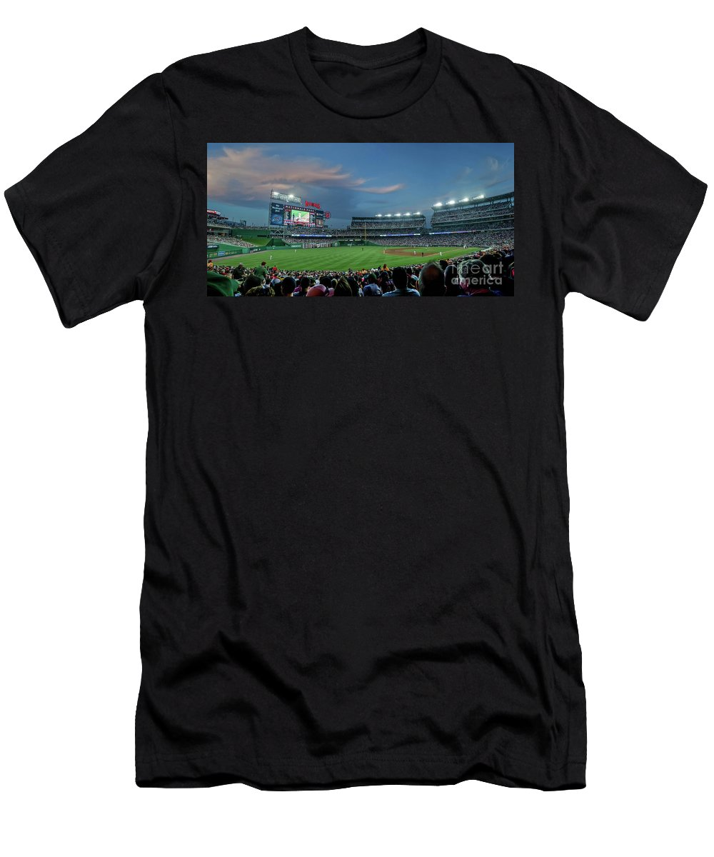 Red Sox Men's T-Shirt (Athletic Fit) featuring the photograph Washington Nationals In Our Nations Capitol by Thomas Marchessault