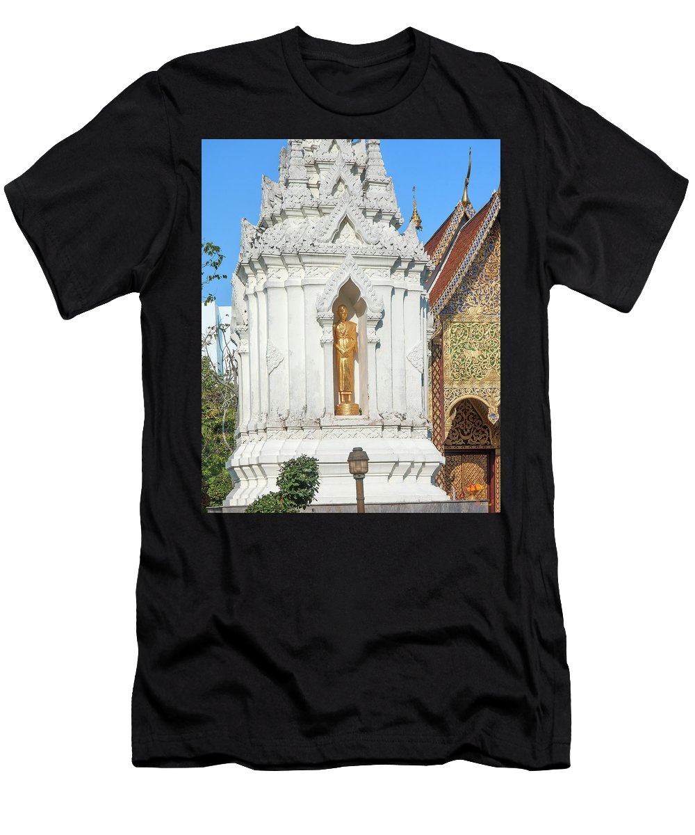 Scenic Men's T-Shirt (Athletic Fit) featuring the photograph Wat Chamthewi Monk Memorial Chedi Dthlu0090 by Gerry Gantt