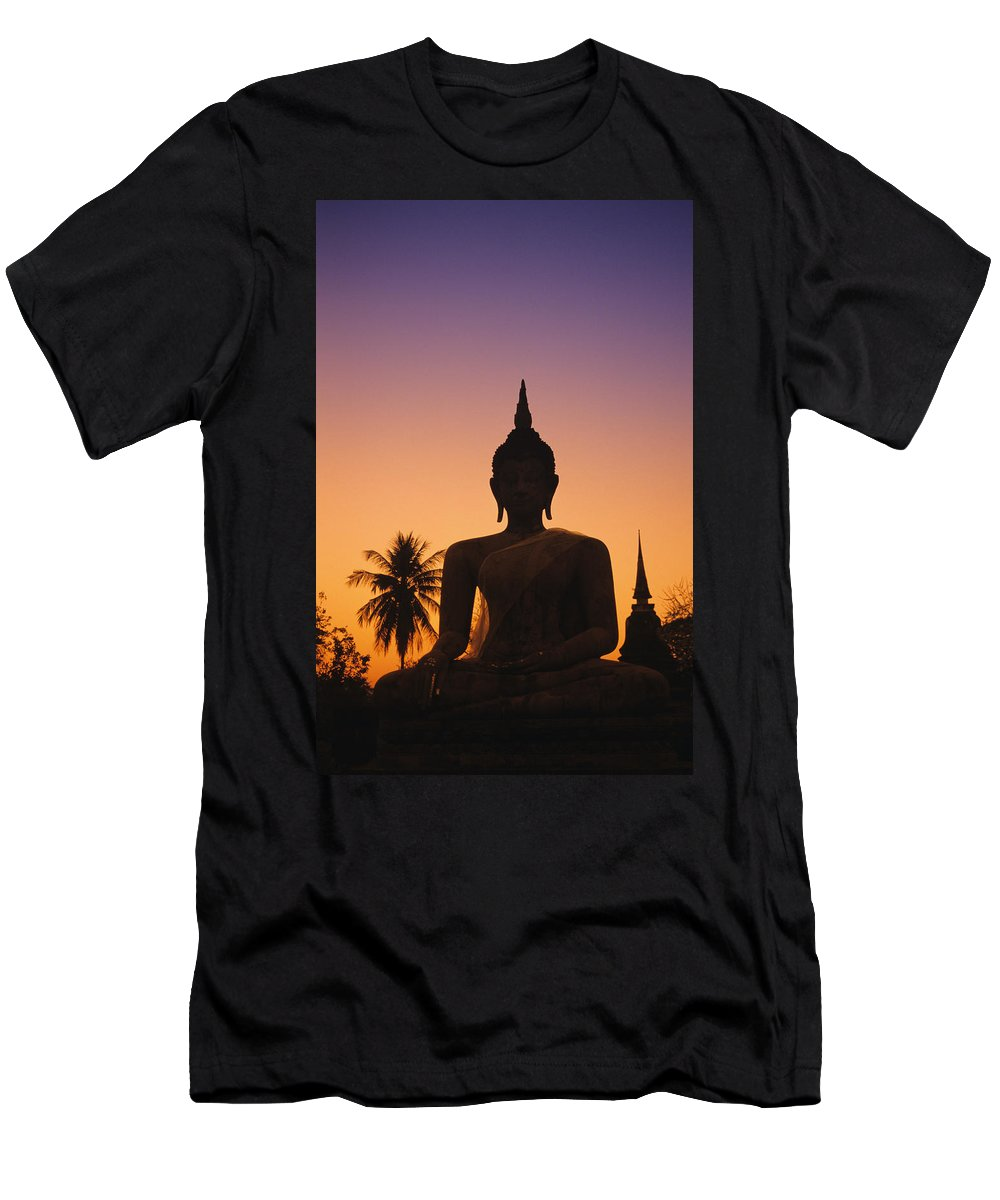 Ancient Men's T-Shirt (Athletic Fit) featuring the photograph Wat Mahathat by Gloria and Richard Maschmeyer - Printscapes