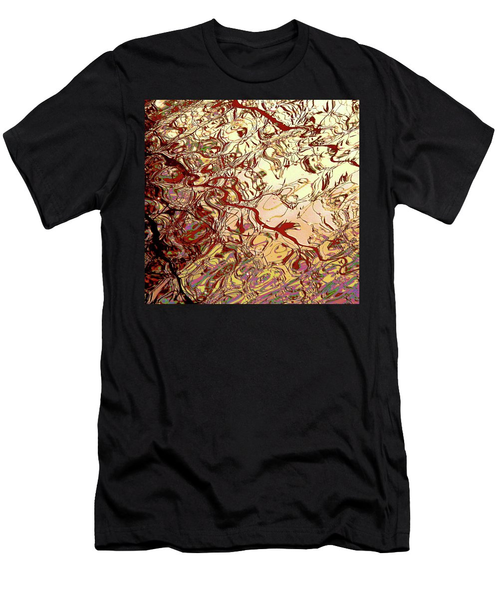 Water-scape Men's T-Shirt (Athletic Fit) featuring the painting Water 1 by Maureen Murphy