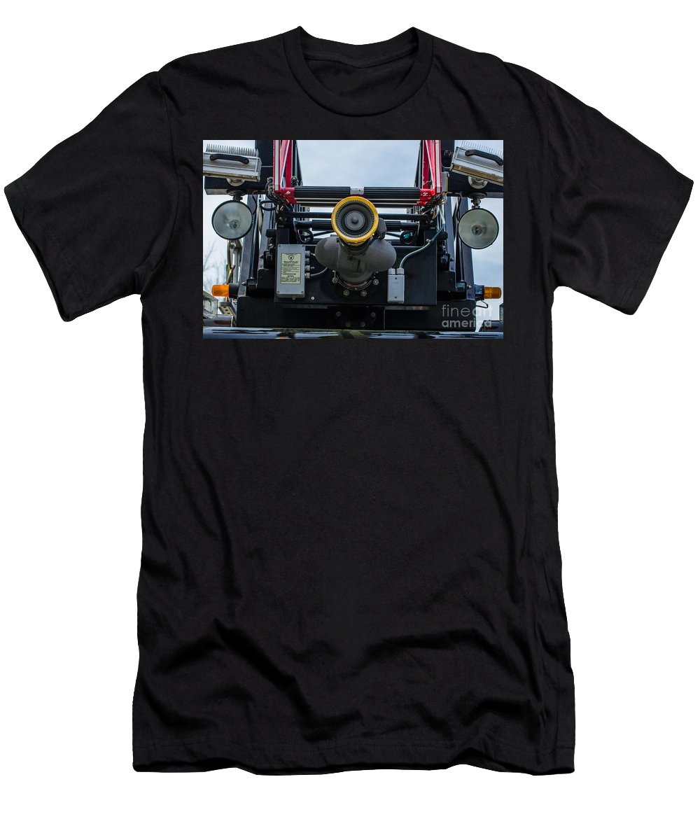 Water Cannon Men's T-Shirt (Athletic Fit) featuring the photograph Water Cannon by Dale Powell