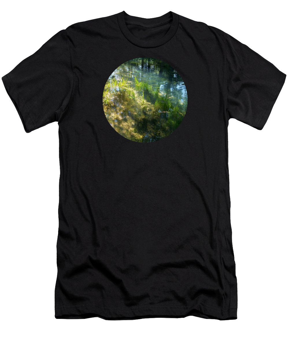 Landscape Men's T-Shirt (Athletic Fit) featuring the photograph Water Colors by Mary Wolf