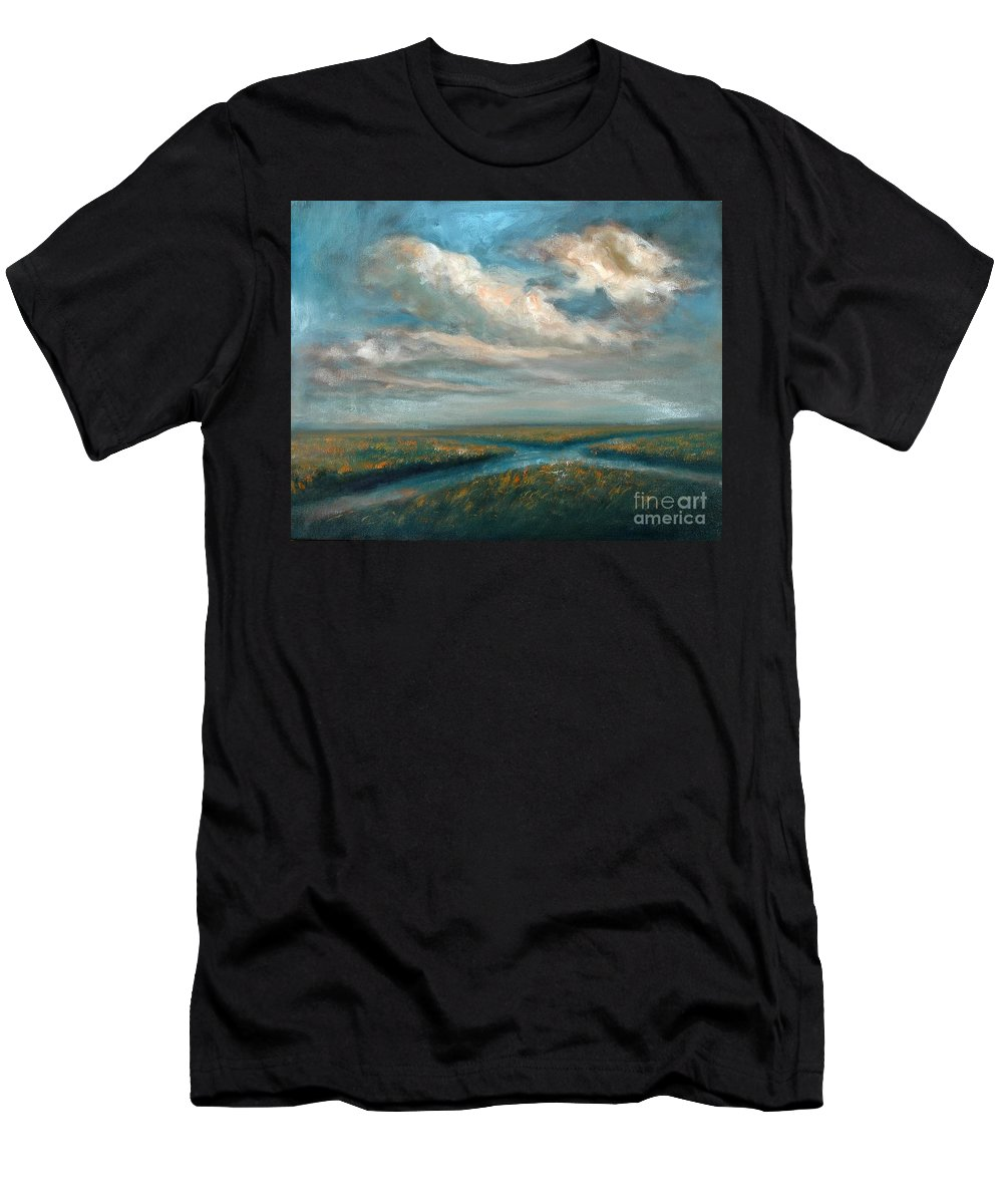 Water Men's T-Shirt (Athletic Fit) featuring the painting Water Cross by Randy Burns