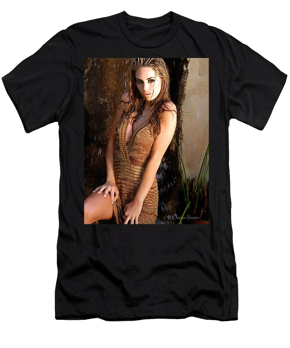 Clay Men's T-Shirt (Athletic Fit) featuring the photograph Water Fall Beauty by Clayton Bruster