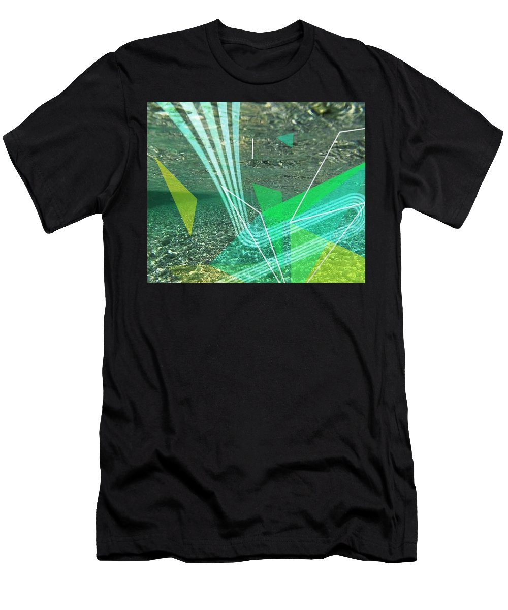 Abstract Men's T-Shirt (Athletic Fit) featuring the digital art Water by Karmen Skaro