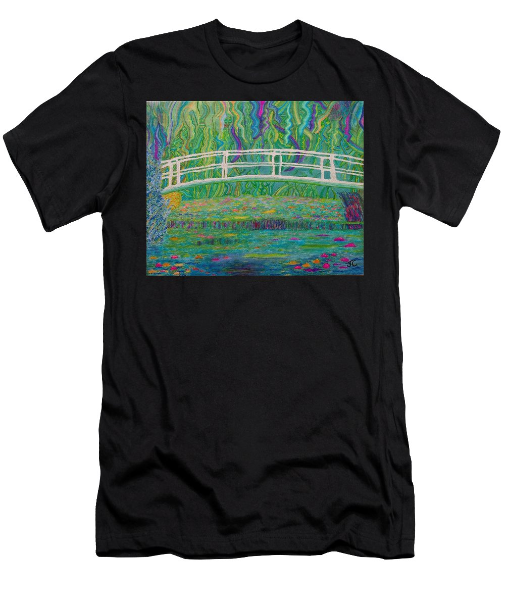 Monet Men's T-Shirt (Athletic Fit) featuring the painting Water Lillies by John Cunnane
